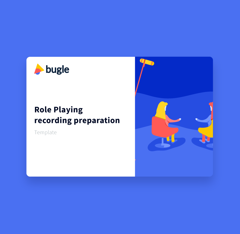 Role Playing Recording Preparation Template